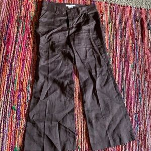 Zara Basics brown wide leg trousers